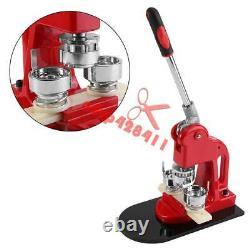 1-1/4 32mm Badge Press Button Maker Machine 1000 Button Supplies Circle Cutter