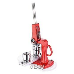 1 1/4 32mm Button Maker Badge Punch Press Machine with 1000 Parts Circle Cutter