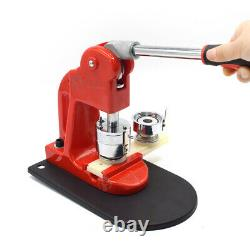 1.25'' 32mm Badge Button Maker Machine Button Making Punch Press+Circle Cutter
