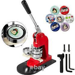 1 25mm Badge Button Maker Machine Press+ 500 Parts + Circle Cutter Manual