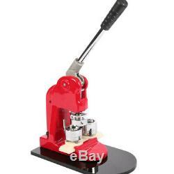 1 25mm Button Maker Badge Punch Press Machine Free 1000 Parts Circle Cutter