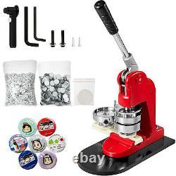 1 25mm Button Maker Machine Badge Punch Press Free 1000 Parts Circle Cutter