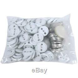 1.75 inch/44mm DIY Badge Pin Button Maker Machine Press+ 500 Parts Circle Cutter