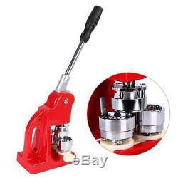 25MM Button Maker Machine Badge Punch Press+1000 Button Supplies+ Circle Cutter