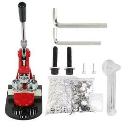 25MM Button Maker Machine Personalized Badge Punch Press Tool +1000 Parts Cutter