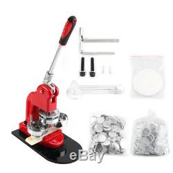 25/32/58MM Button Maker Machine Badge Punch Press+1000 Parts Circle Cutter
