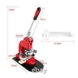 25/32/58MM Hand Button Maker Machine Badge Punch Press+1000 Parts Circle Cutter