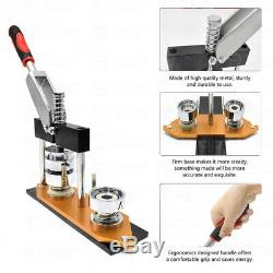 25/32/58mm Badge Maker Machine Making Pin Button Badges Press +Cutter+ 300 Parts