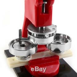 25/32/58mm Button Maker Badge Pin Punch Press Machine +1000 Parts +Circle Cutter