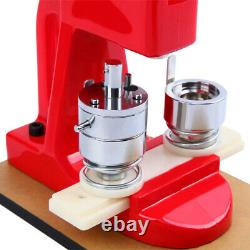 25/32/58mm Button Maker Badge Punch Press Machine Cutter 500 Pcs Free Buttons