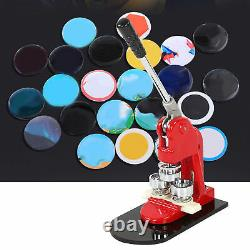 25mm Badge Punch Press Maker Machine With 1000 Circle Button Parts+Circle Cutter