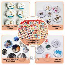 25mm Button Badge Maker Press Machine Cutter Metal Rotate Buttons Kits Premium