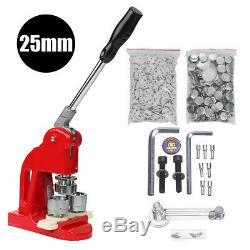 25mm Button Badge Maker Punch Press Machine with Button Parts and Circle Cutter