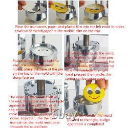 25mm Button Maker Badge Press Machine Circle Cutter Pinback Buttons AU STOCK
