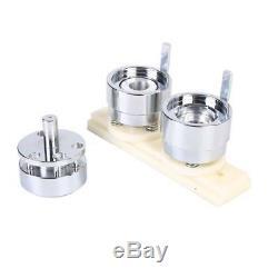 25mm Button Maker Badge Press Machine Kit Circle Cutter 1000pcs Buttons 3 Dies