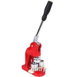 25mm Button Maker Machine Badge Punch Press Circle Cutter + 1000pcs Buttons