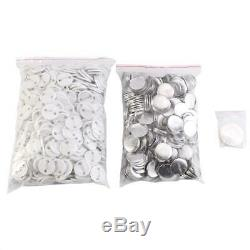 25mm Button Maker Punch Press Machine Pin Badge Set+1000 Parts+Circle Cutter Red