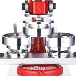 2 1/4 58mm Button Maker Badge Punch Press Machine +1000 Parts Circle Cutter US