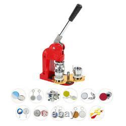 32MM Badge Maker Machine Making Pin Press 1000pcs Button Parts Circle Cutter Kit
