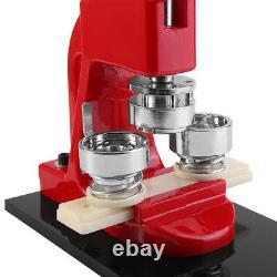 32mm Badge Button Maker Punch Press Making Machine 1000 Parts+Circle Cutter