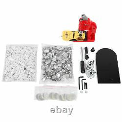 32mm Badge Maker Machine Button Badges Press & Cutter Kit +1000 Parts