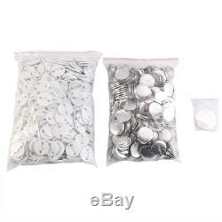 32mm Badge Maker Machine Making Pin Button Badges Press Cutter Kit +1000 Buttons