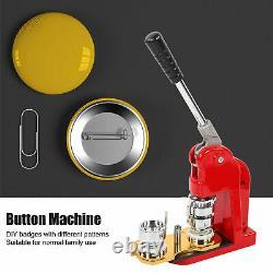 32mm Badge Maker Machine Making Pin Button Badges Punch Press +1000 Cutter Kits