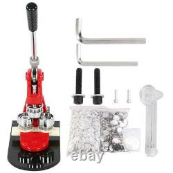 32mm Badge Punch Press Maker Machine With 1000 Button + Circle Cutter Kit UK