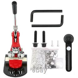 32mm Badge Punch Press Maker Machine With 1000 Circle Button Parts+Circle Cutter