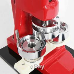 32mm Button Badge Press Punch Maker Machine 500 Button Supplies + Circle Cutter