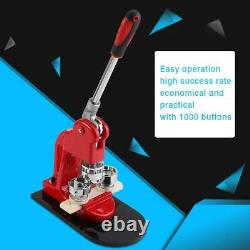 32mm Button Maker Badge Maker Punch Press Machine 1000pcs Parts Circle Cutter UK