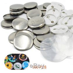 37mm 1.45'' Button Maker Badge Punch Press Machine Circle Cutter 300 Sets Badges