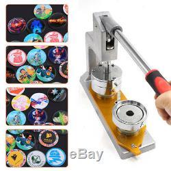 37mm Button Maker Badge Punch Press Machine + 300 Button Supplies Circle Cutter