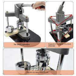 3'' Badge Punch Press Button Pin Maker Machine +300 Button Parts + Circle Cutter