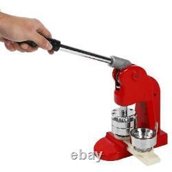 44MM Button Maker Machine Badge Punch Press + 500 Button Parts Circle Cutter Set
