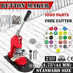 44mm(1.73) Button Badge Maker press 1000 Pcs handle circle cutter comfortable