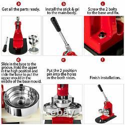 44mm(1.73) Button Badge Maker press 1000 Pcs machine circle cutter free buttons