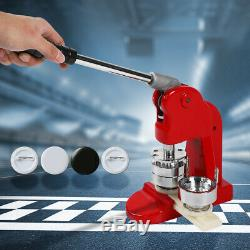 44mm/75mm Button Badge Maker Punch Press Machine + 500PC Buttons& Circle Cutter