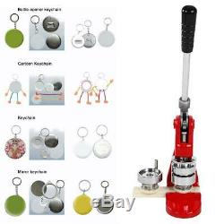 44mm/75mm Button Badge Maker Punch Press Machine 500PC Parts & Circle Cutter Set