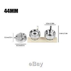 44mm/75mm Button Badge Maker Punch Press Machine 500PC Parts & Circle Cutter UK