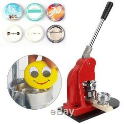 44mm Button Maker Badge Press Machine Kit Circle Cutter +500x Buttons Premium