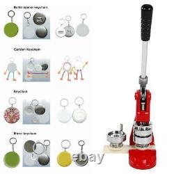 44mm Button Maker Badge Punch Press Machine + 500 Parts Circle Cutter UK