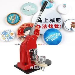 44mm Button Maker Badge Punch Press Machine Set With 500 Buttons + Round Cutter