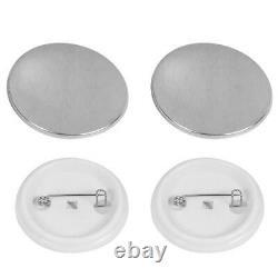 44mm Button Maker Machine Tinplate Badge Punch Press+500 Parts Circular Cutter