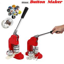 44mm Button Maker Punch Press Badge Maker with 500pcs Buttons Die Circle Cutter