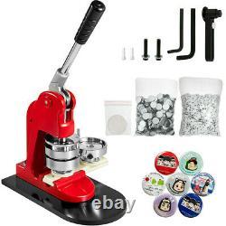 58mm 2.28 Button Badge Maker Punch Press Machine Circle Cutter 1000Pcs Buttons