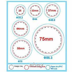 58mm 2.28 Button Badge Maker Punch Press Machine Circle Cutter 500 Pcs Buttons