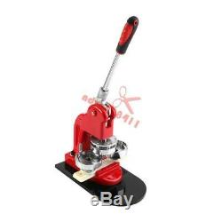 58mm 2.28 Button Maker Machine Badge Punch Press 100 Parts Circle Cutter Tool