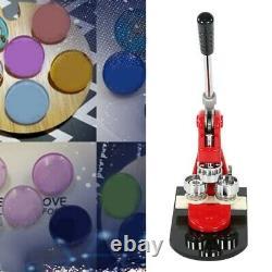 58mm Badge Button Maker Punch Press Making Machine 1000 Parts + Circle Cutter UK