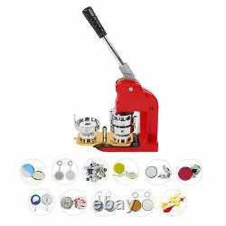 58mm Badge Maker Machine Making Pin Button Badges Punch Press 500 Cutter Kits